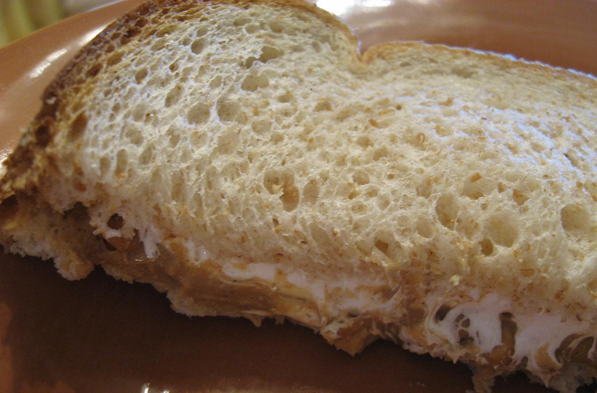 Fluffernutter sandwich uploaded by Kimberly Vardeman on Flickr