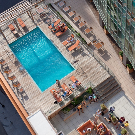 A BIRD'S EYE VIEW OF THE KENSINGTON DECK. PHOTO BY ANTHONY CRISAFULLI.