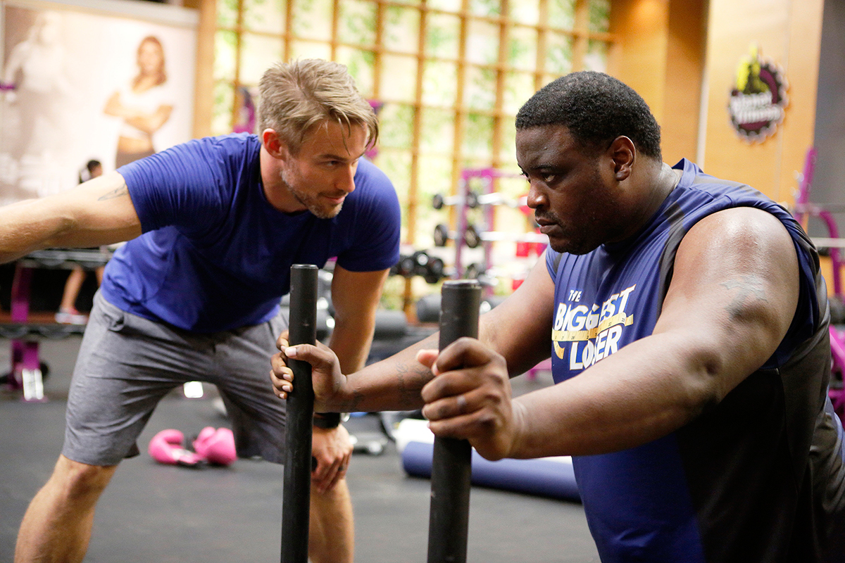 damien woody working out