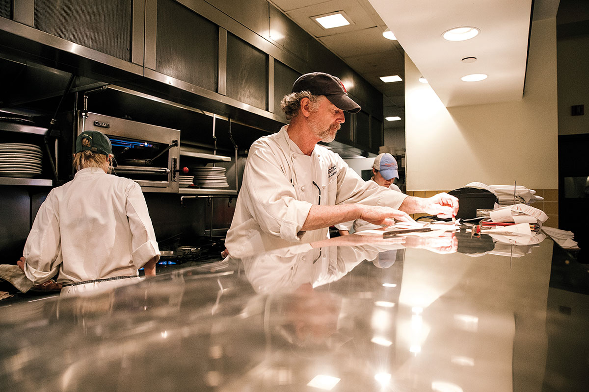 The chef behind the pass. Photo by David Salfia