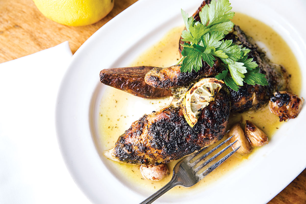 The restaurant's iconic roast chicken. Photo by David Salafia