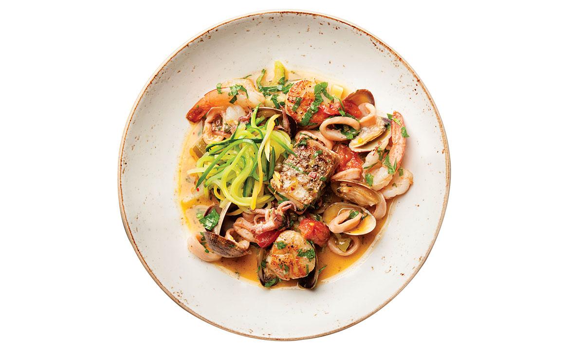 The acqua pazza atIl Casale Cucina Campana. Photo by Chelsea Kyle