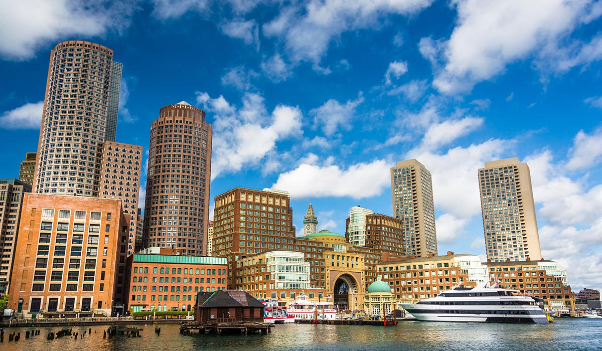Oceans of Hope will arrive at Rowes Wharf September 8. Wharf photo via shutterstock.