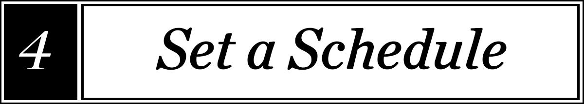 set-a-schedule