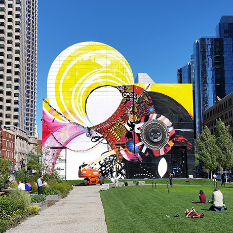 Public event will celebrate new dewey square mural by for Dewey square mural