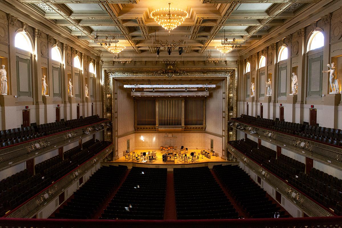 symphony hall interior centered