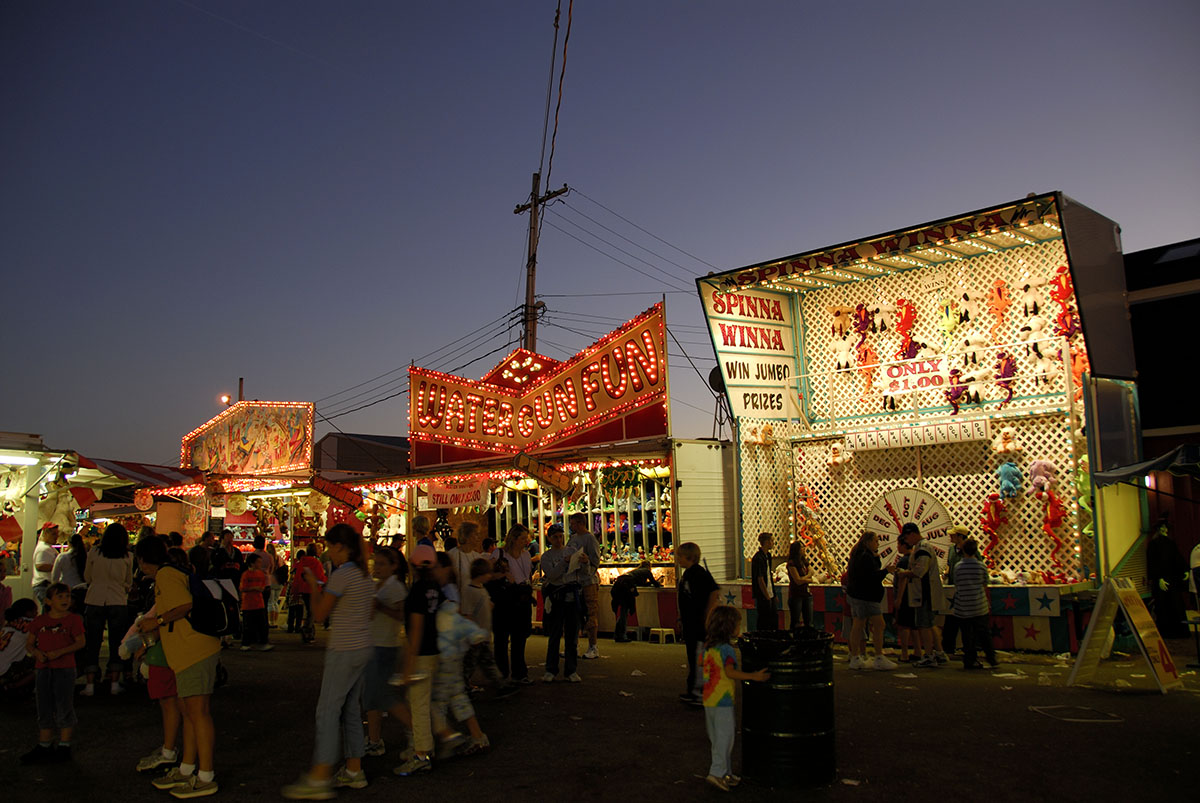 The Topsfield Fair midway.  Photo by Christian Madden on Flickr/ Creative Commons