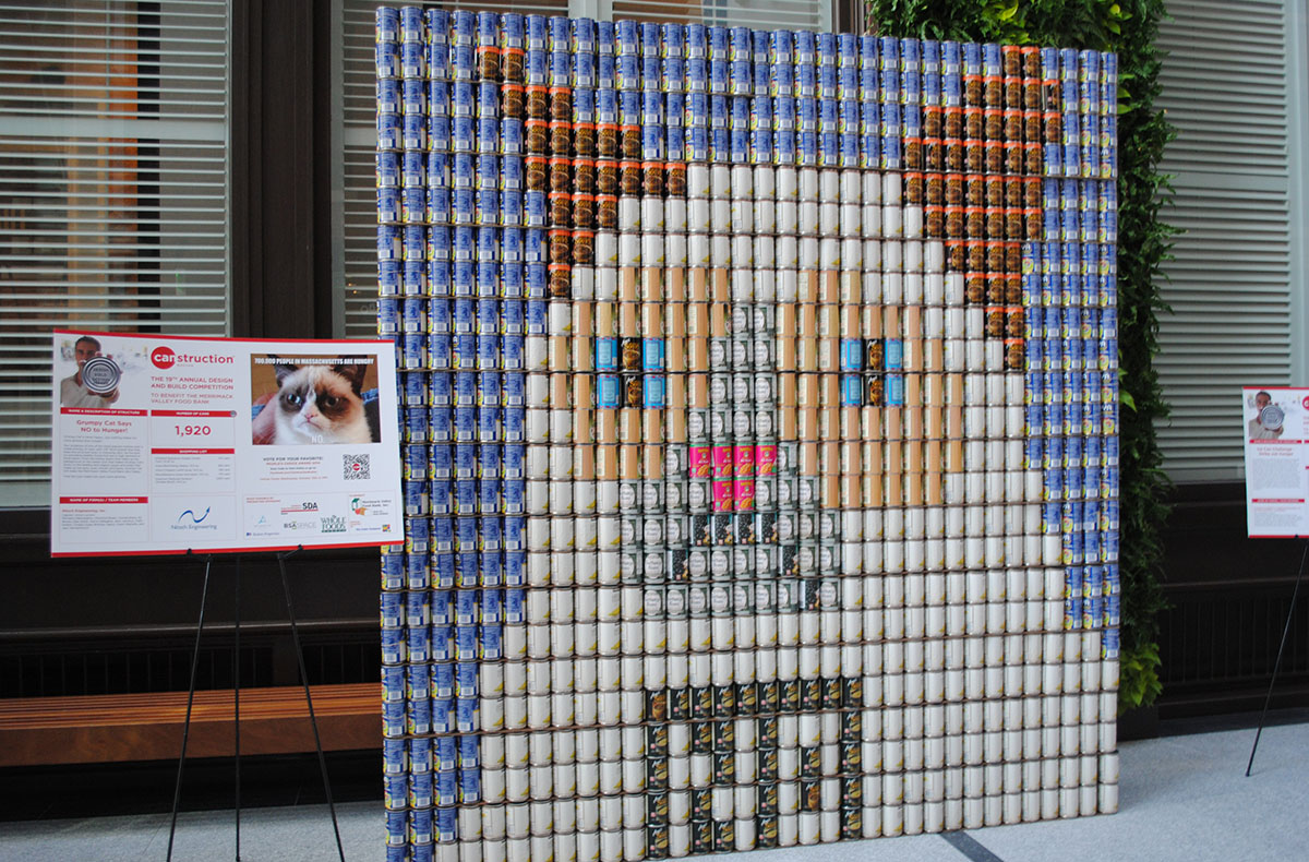 Grumpy Cat Canstruction. Photo by Madeline Bilis