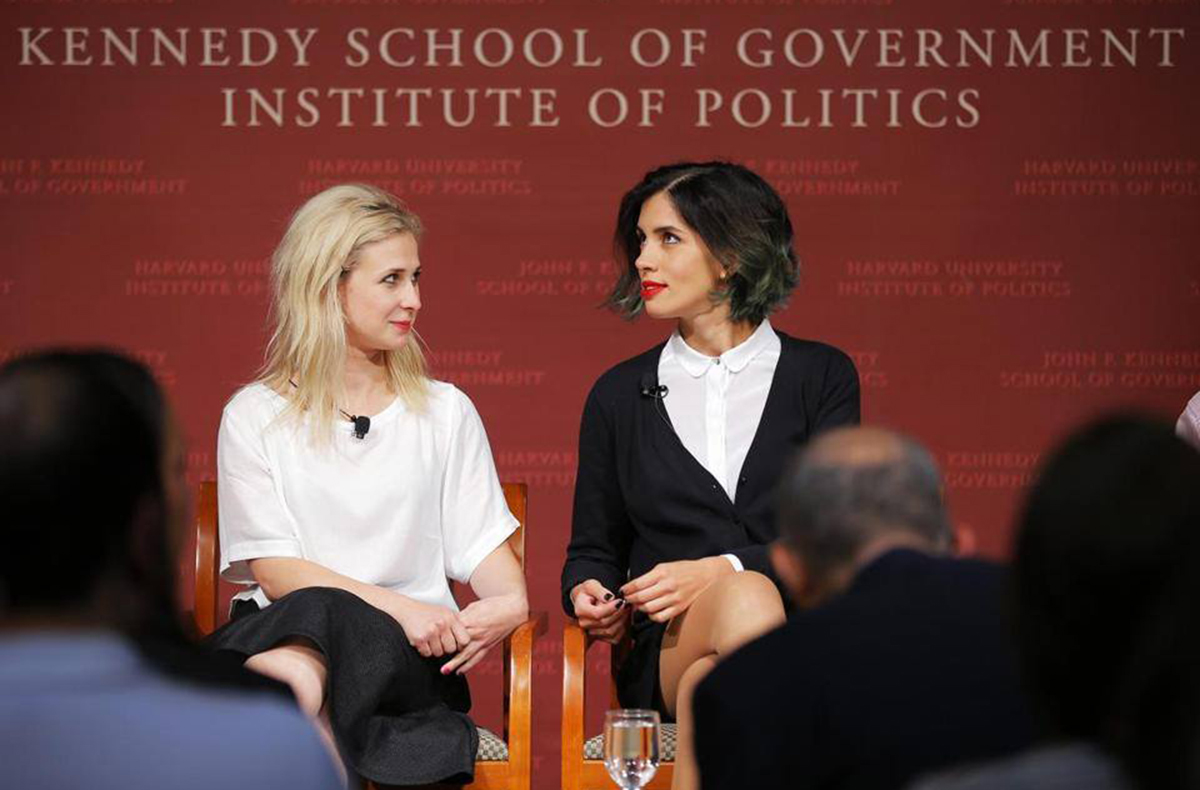 Image via Pussy Riot on Facebook/Harvard University's Kennedy School