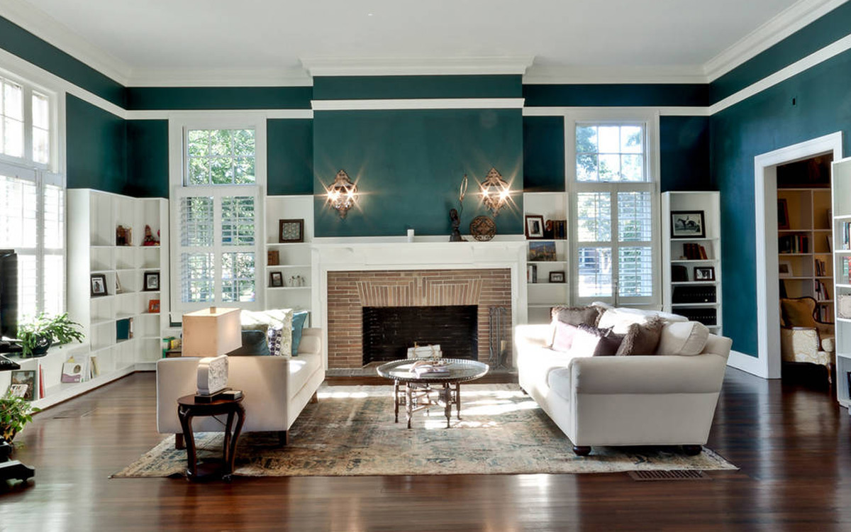 The living room of a Rhode Island library turned home. Photo provided.