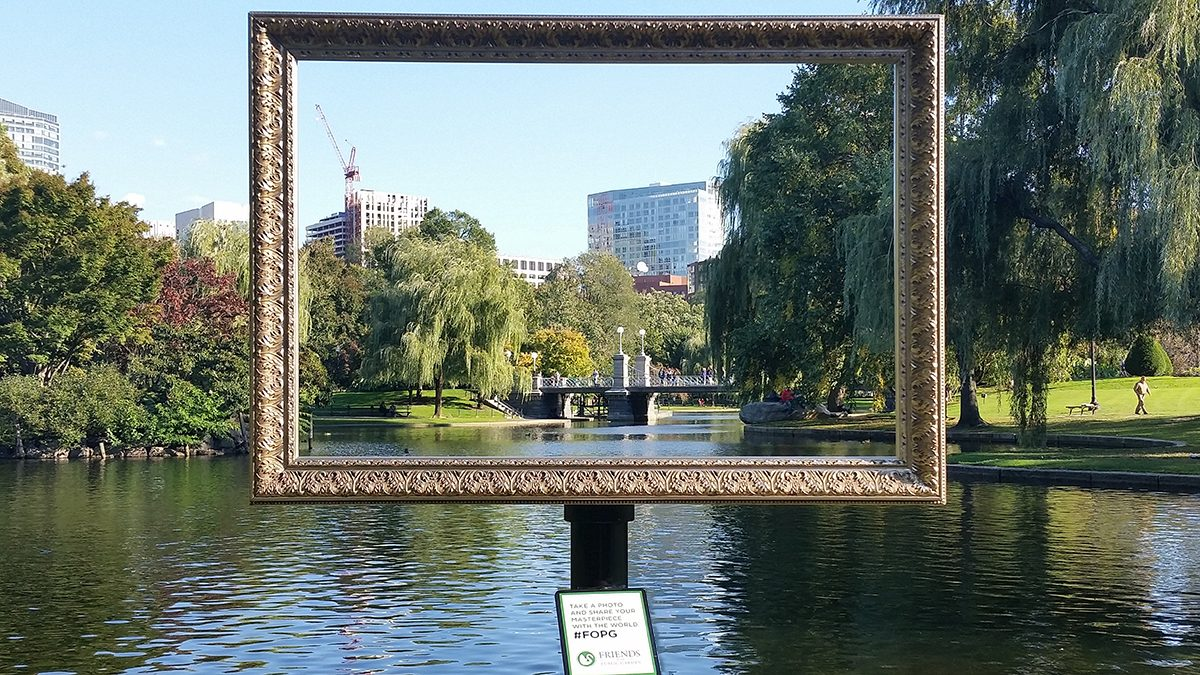 Frame Your Photos At The Public Garden With #FOPG