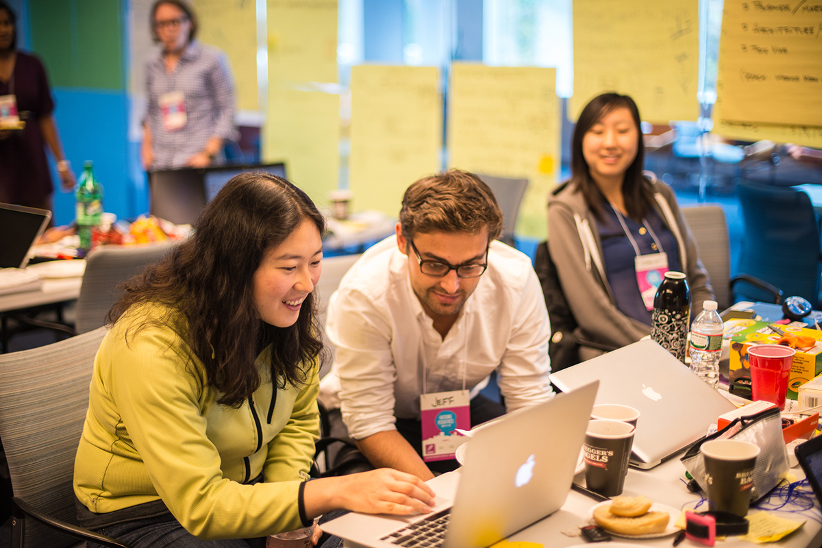 'Hackers' working on their projects. Photo provided by Boston Children's Hospital
