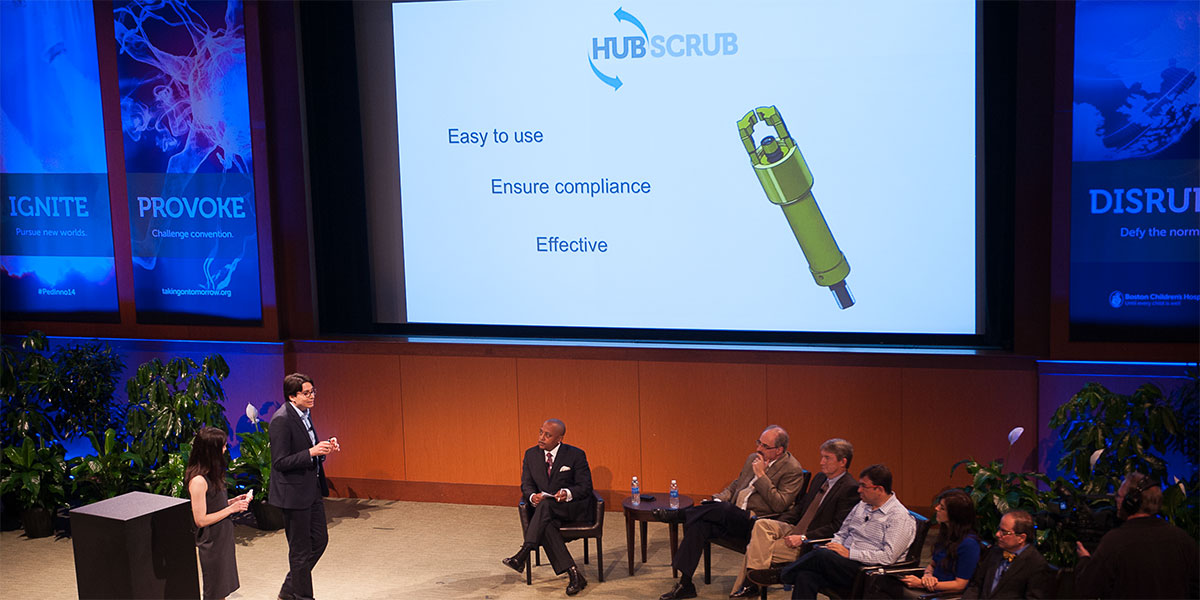 A digital version of the Hubscrub. Photo provided by Katherine C. Kohen, Boston Children's Hospital.