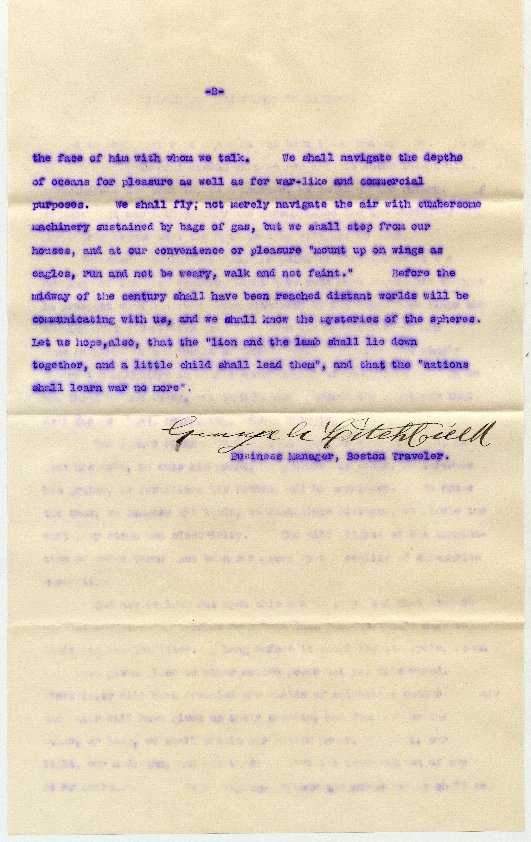 Boston Traveler letter page 2 copy