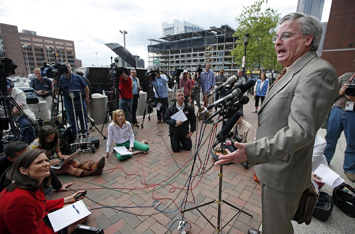 Ed Hayden, defense attorney for Khairullozhon Matanov/Image via AP