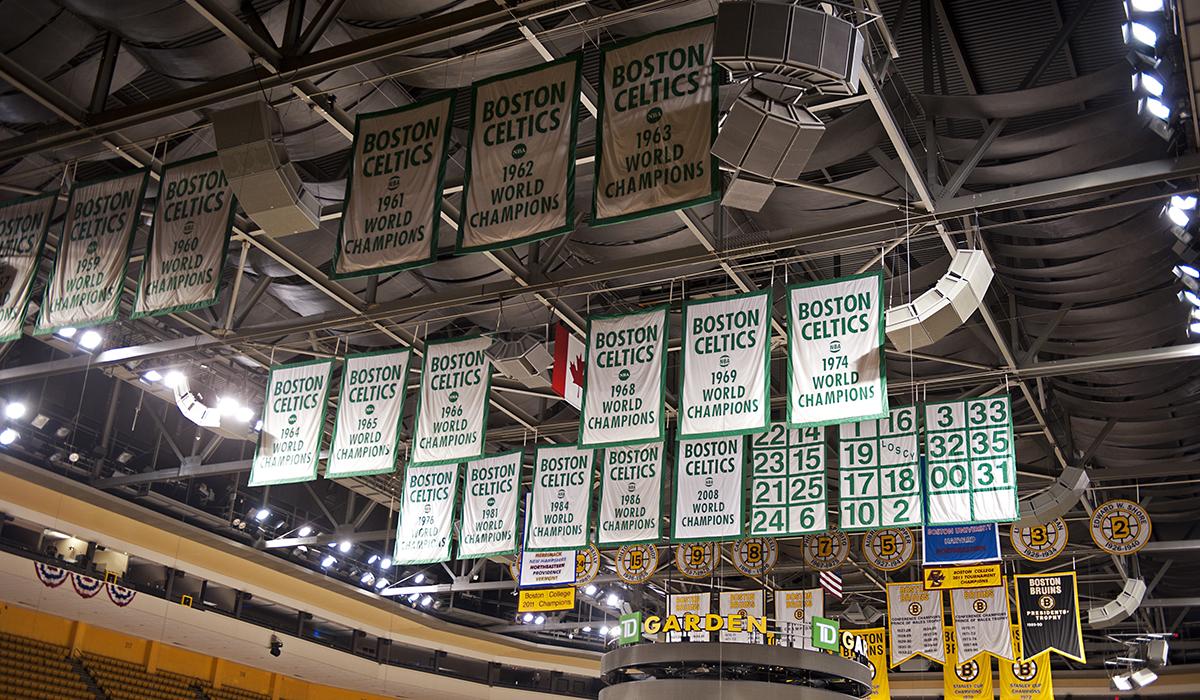 Championship banners image via Jason Tench/Shutterstock