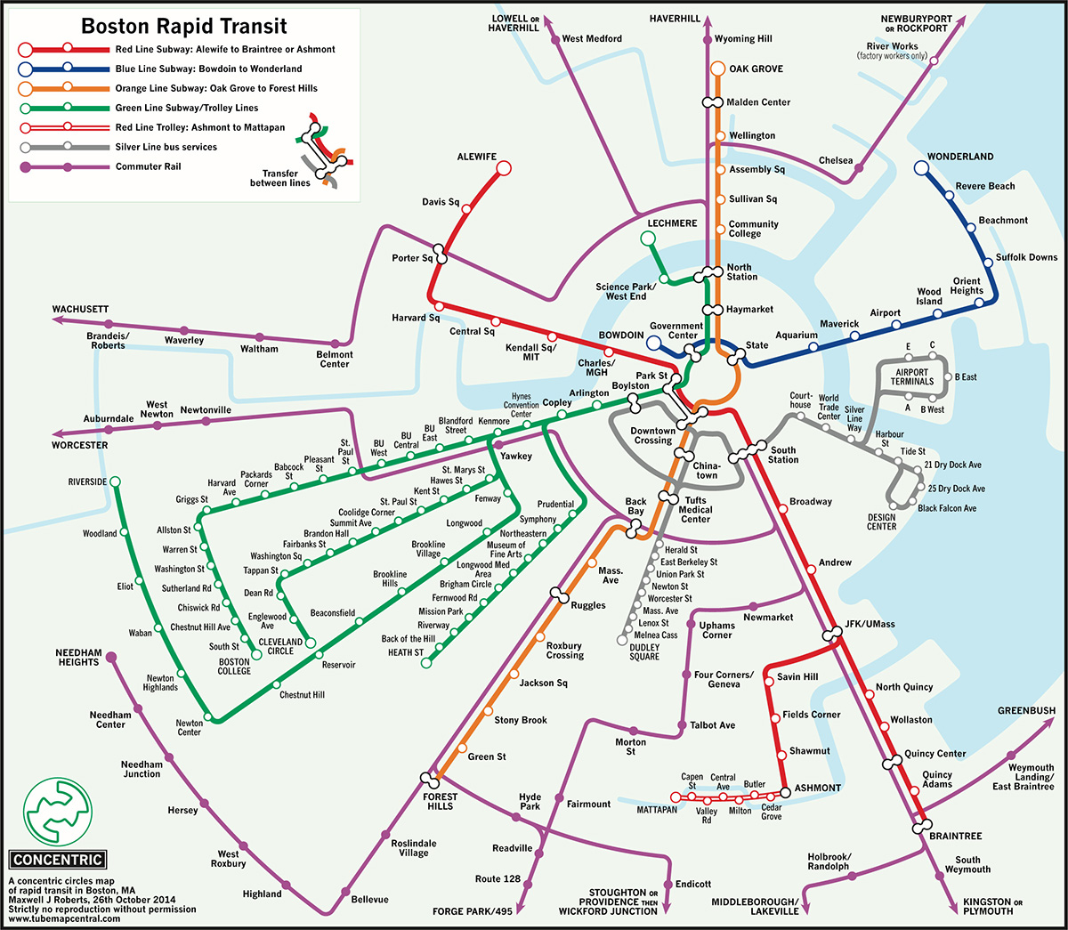 Boston Subway Map To Geography.University Of Essex Professor Reconfigures Mbta Maps With New Designs