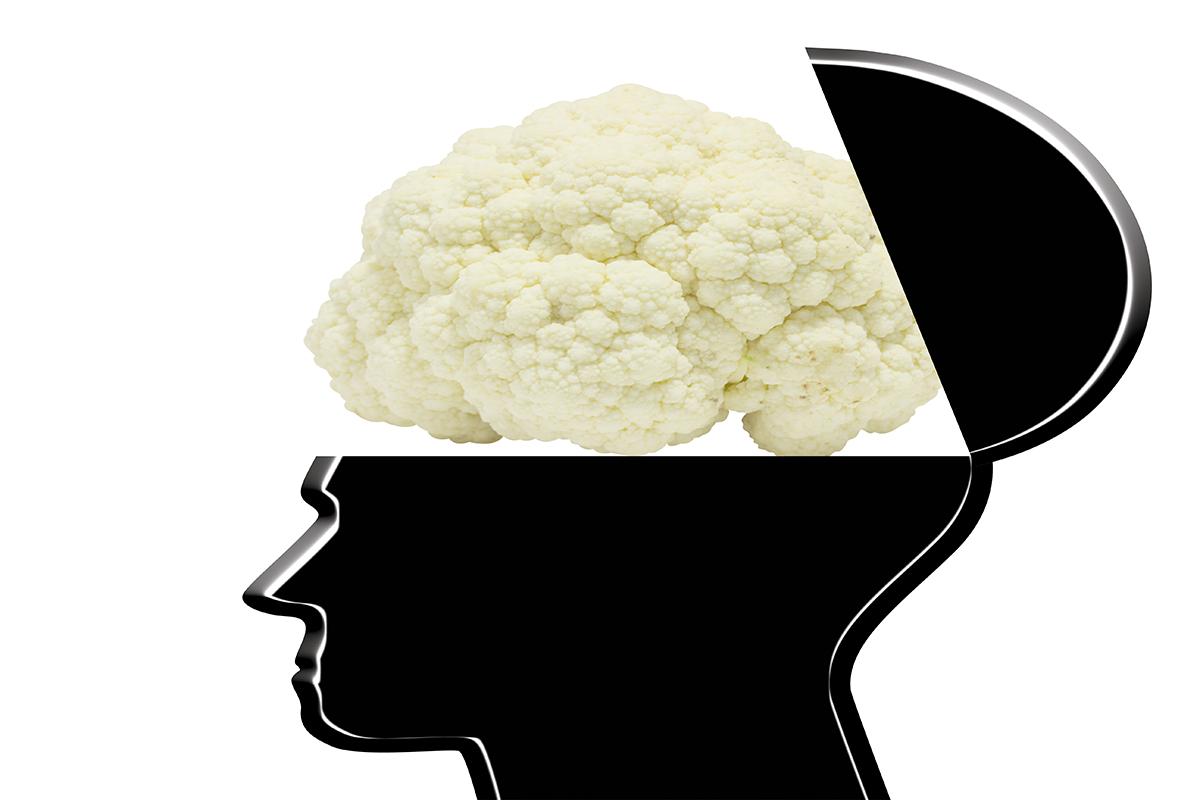 Cauliflower on the brain. Image via shutterstock
