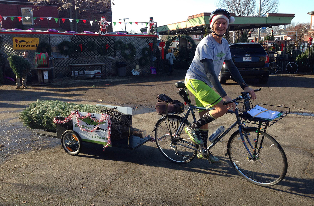 EverGreen Delivery Delivers Christmas Trees By Bike