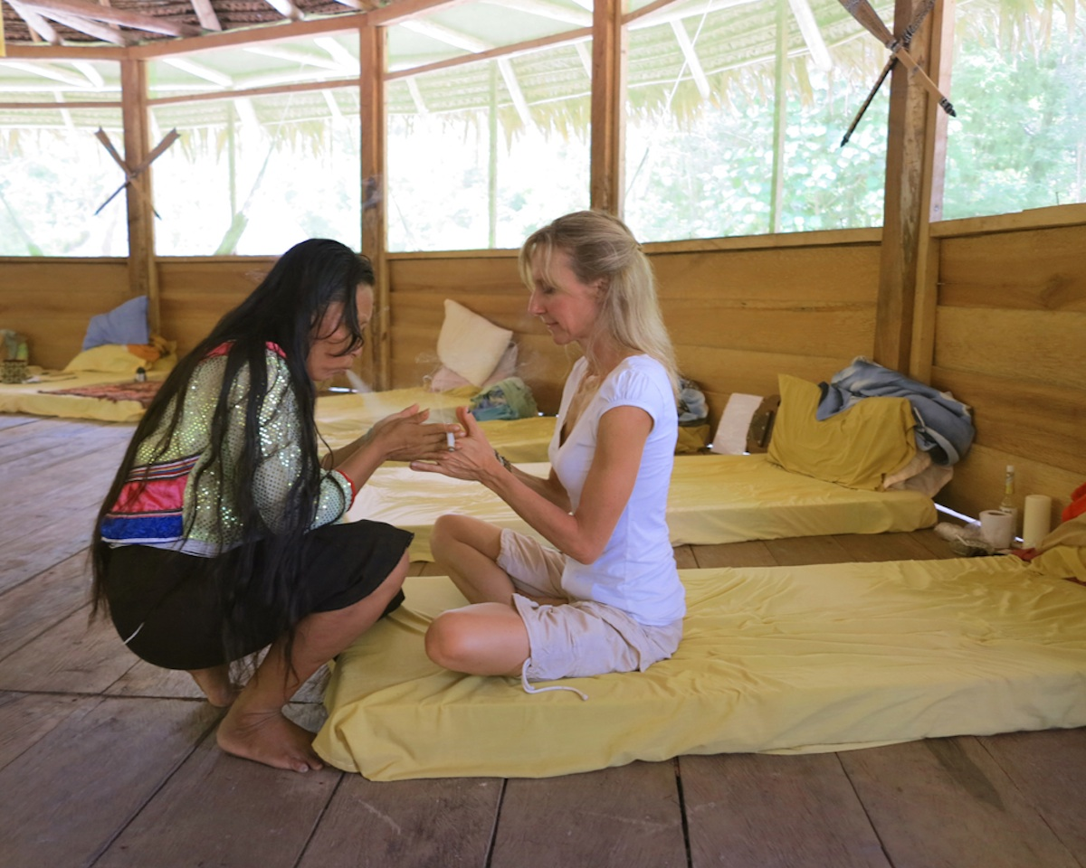 Grant recipient Robyn Lawrence during her retreat. Photo provided to bostonmagazine.com