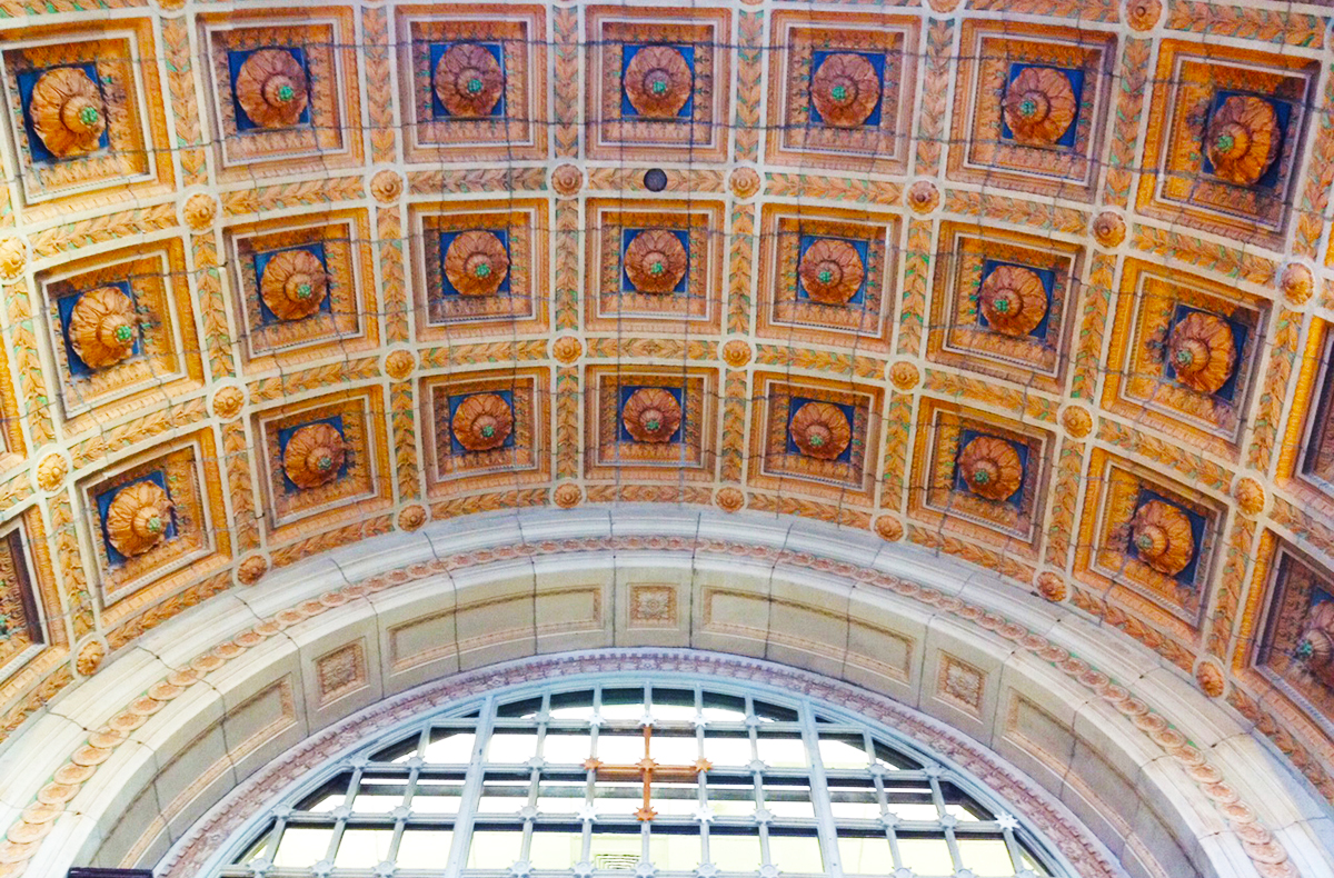 Don't forget to look up. The building's entrance. Photo by melissa malamut