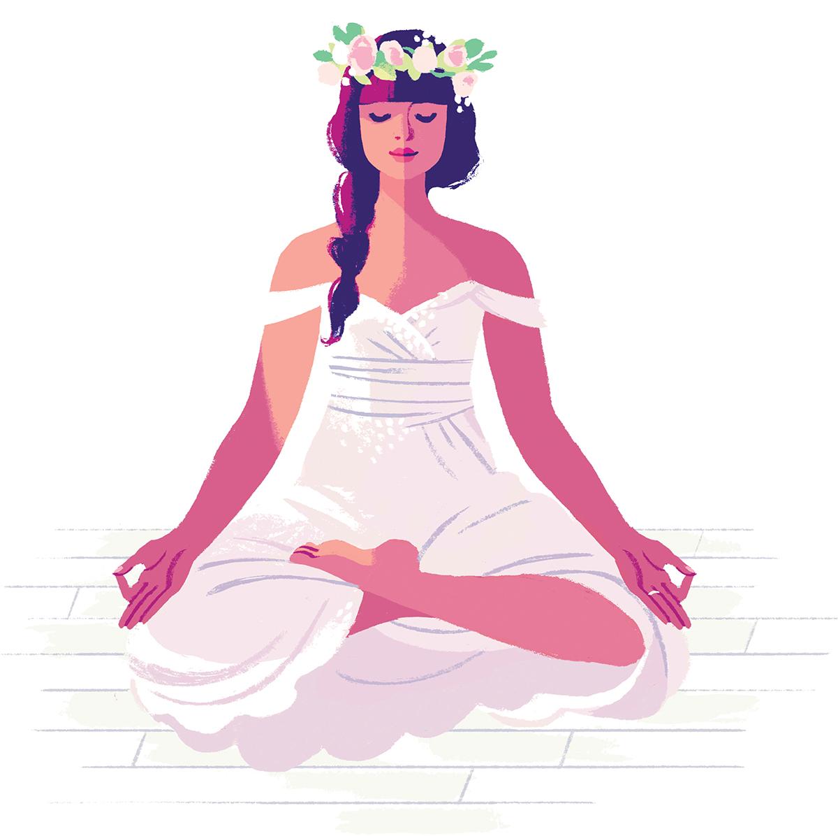 Color zen magazine - Illustration By Kali Ciesemier