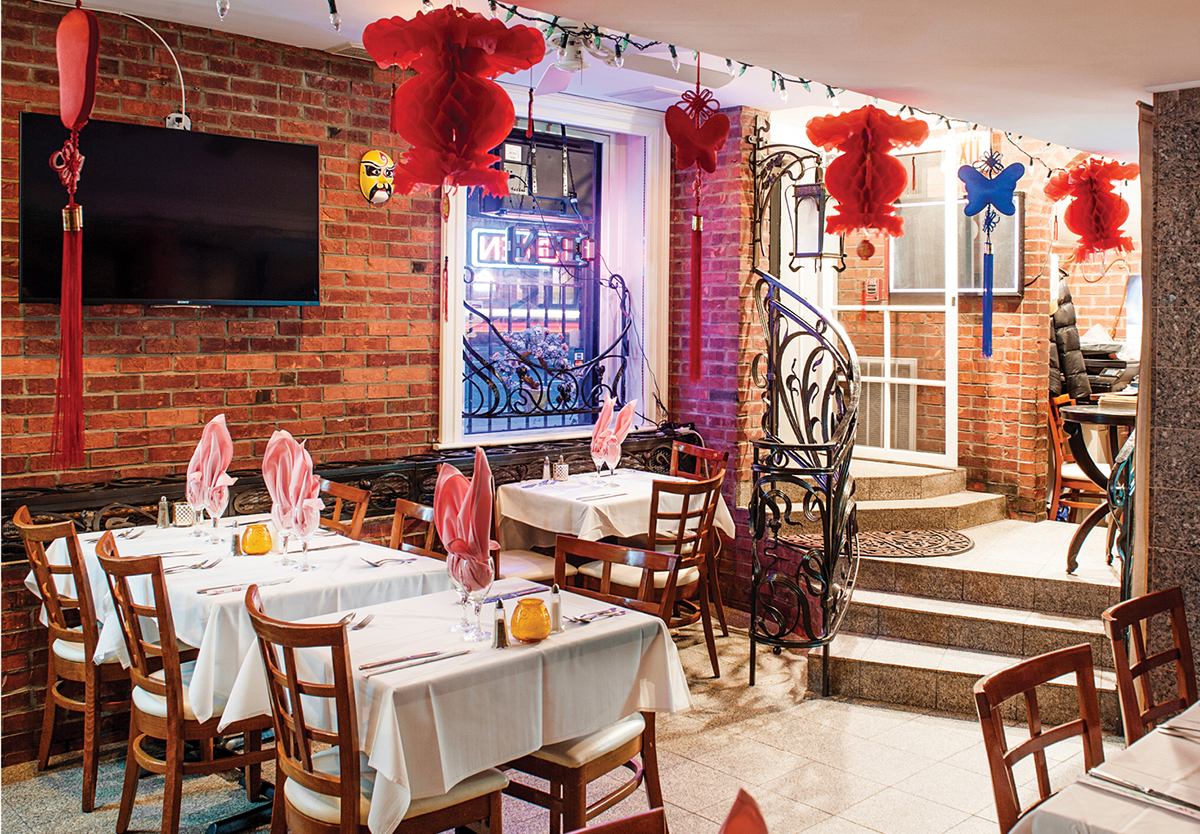 Chef Chang's festive dining room; Photograph by Chelsea Kyle.