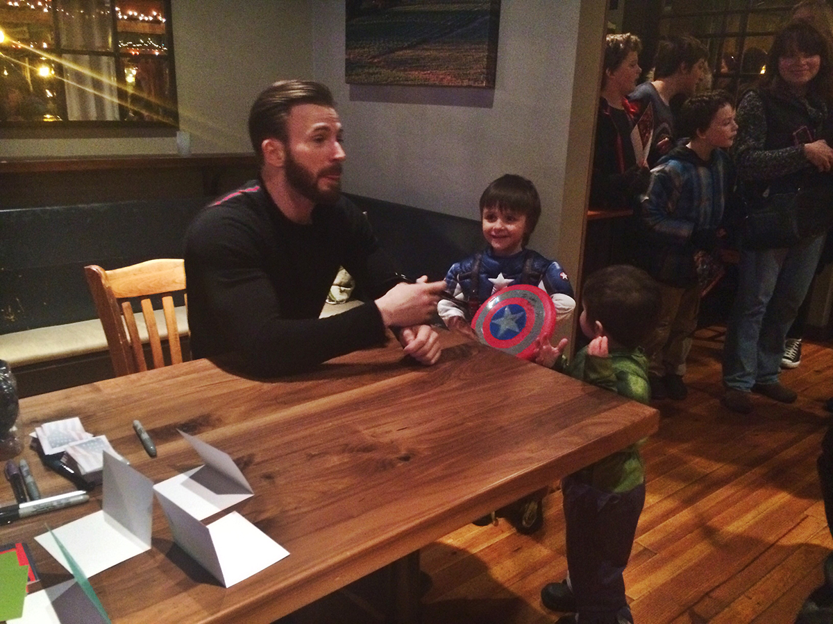 Kids said the darndest things at chris evanss meet and greet in chris evans m4hsunfo