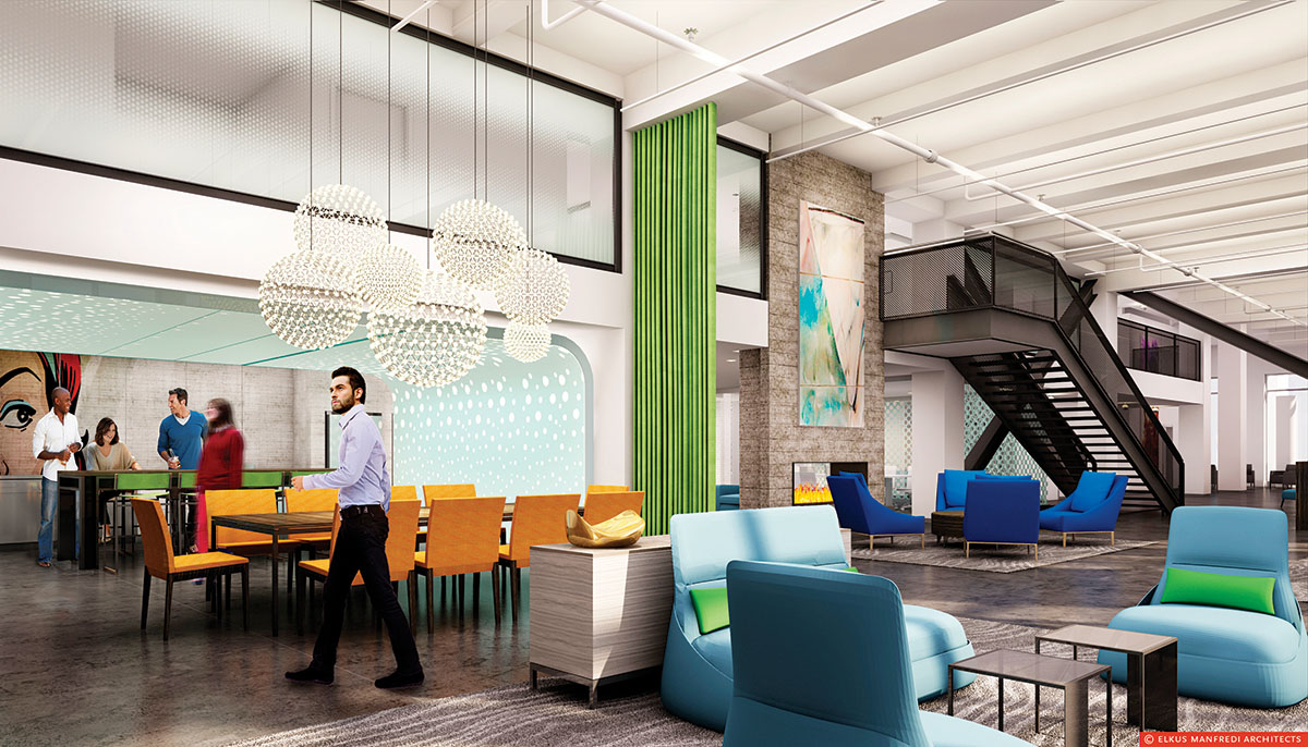 A rendering of the Ink 1 lobby. Photo by Toan Trinh.