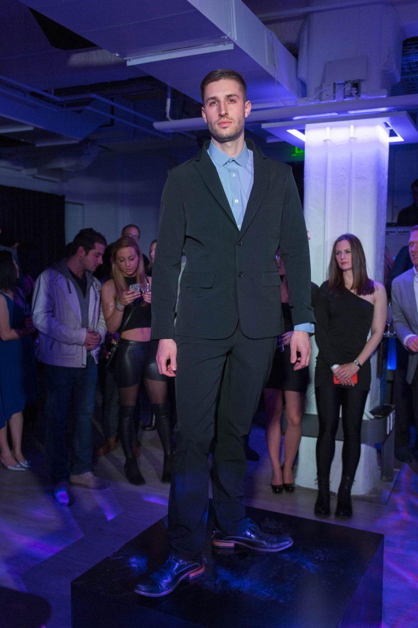 A model wears the  suit from Ministry of Supply. / Photo by Gretjen Helene