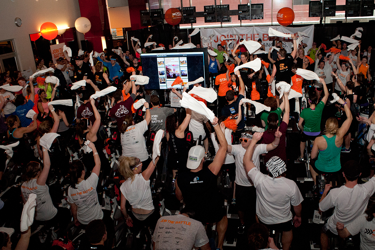 2014 event photo provided by cycle for survival