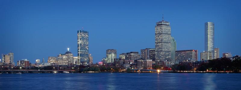 The future Boston skyline, with One Dalton Street on the far right. Photo: PEI COBB FREED/CAMBRIDGE 7 ASSOCIATES