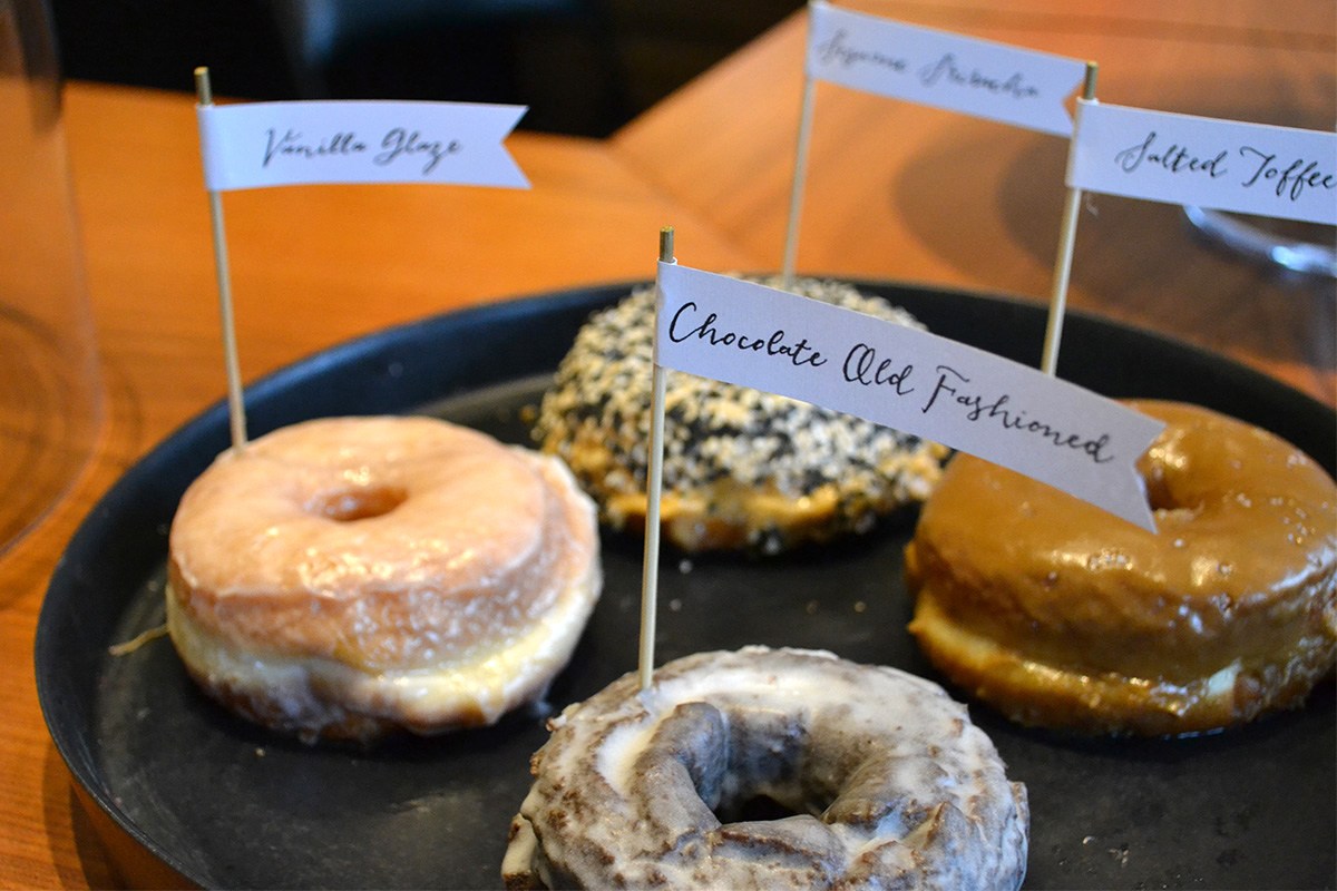 A selection of doughnuts at Blackbird Doughnuts in the South End. Photo by Chris Hughes