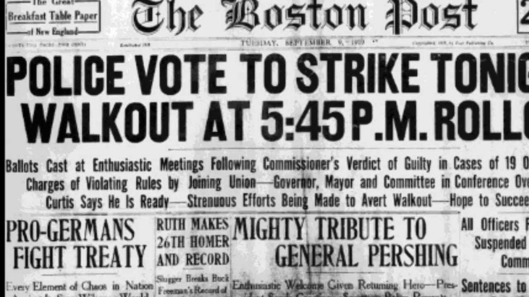 A Boston Post article on the police strike