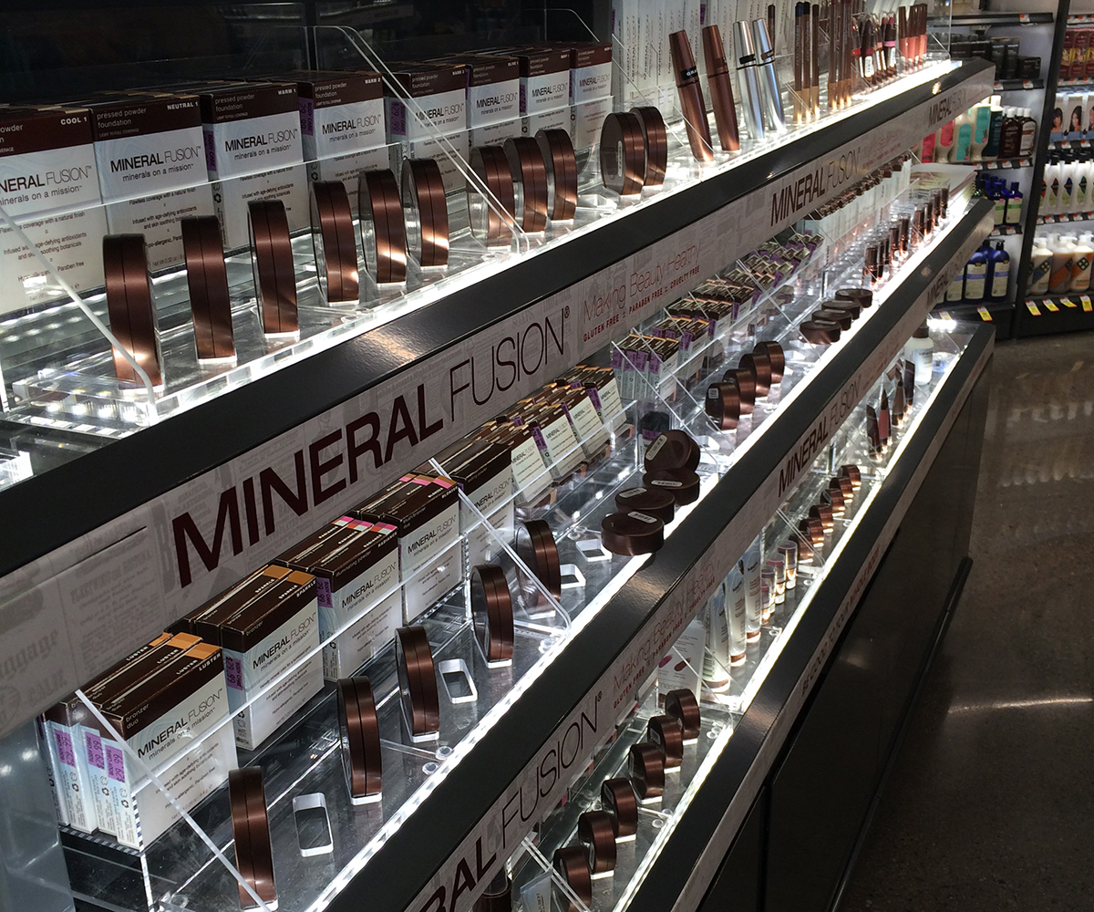 Just a small taste of the vast makeup section.