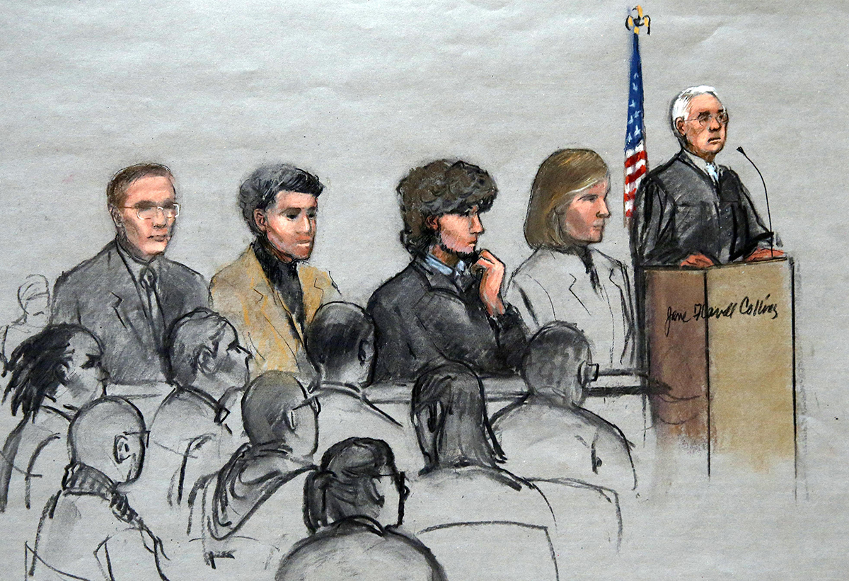 Tsarnaev court drawing