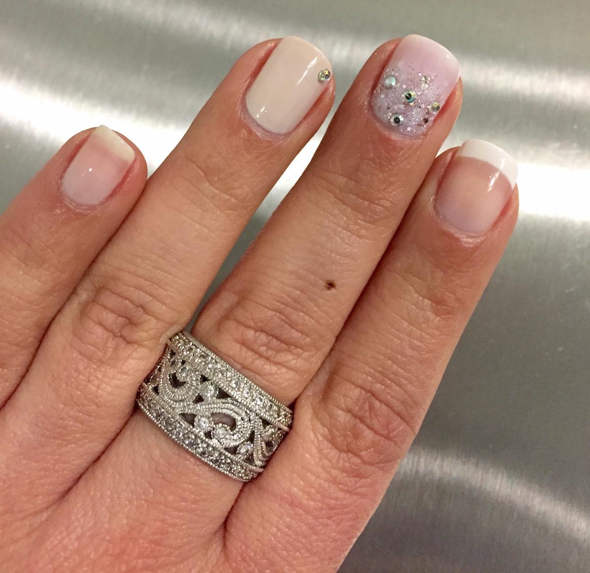 Three bridal nail trends/Photo courtesy of G2O Spa+Salon