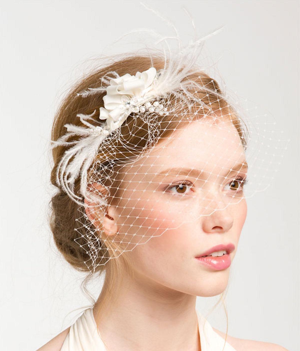 Cara Whispering Flower Veil Hair Comb/Photo courtesy of Nordstrom