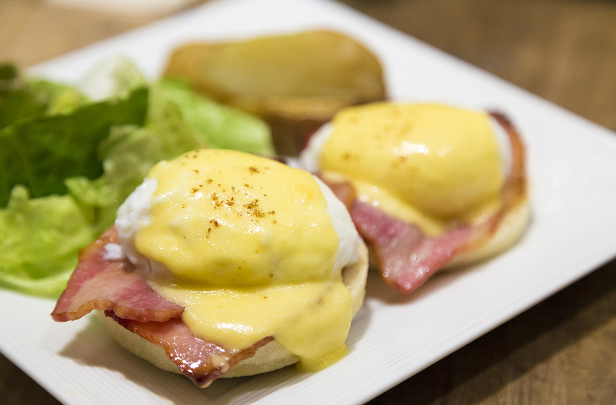 Easter Brunch with Eggs Benedict