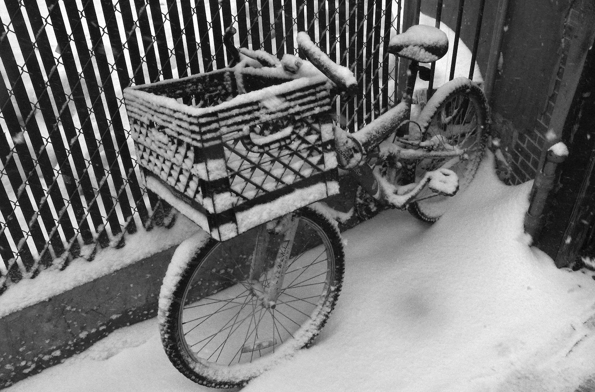 Frosted delivery bike image by Luis Roca on Flickr