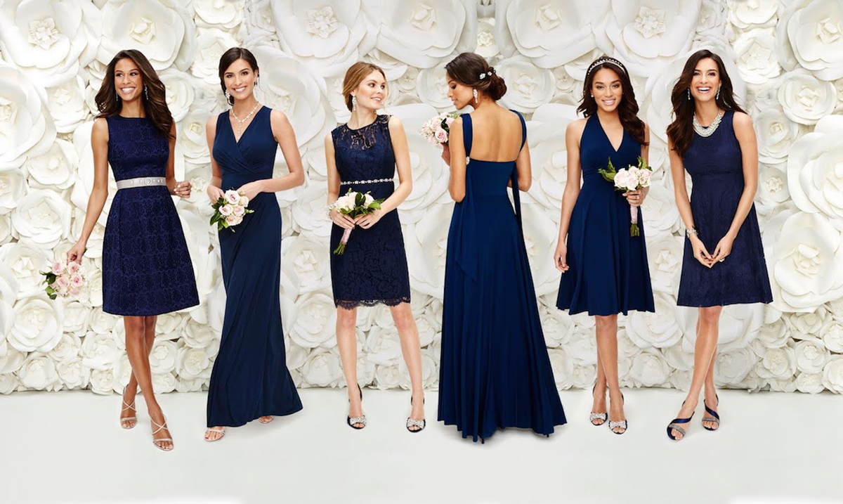 eva mendes bridesmaid dresses blue