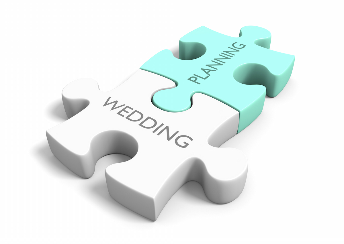 Wedding planning puzzle piece via Shutterstock