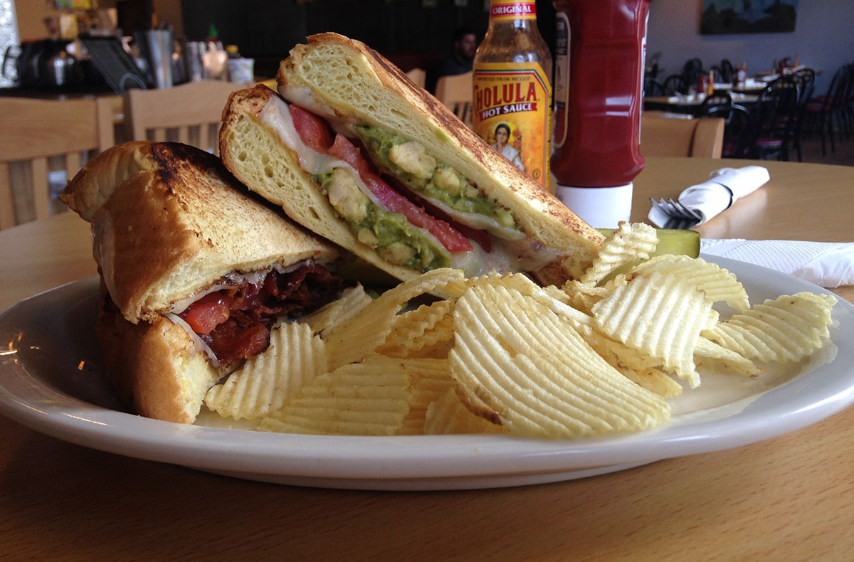 Deluxe Grilled Cheese at Trident Booksellers & Café, Back Bay