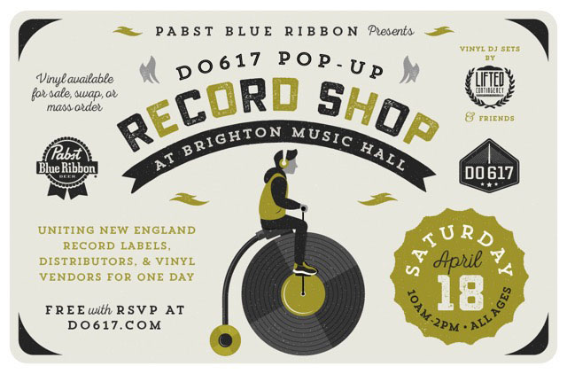 Do617 Pop-Up Record Shop Poster by Nicole Anguish/Daykamp Creative