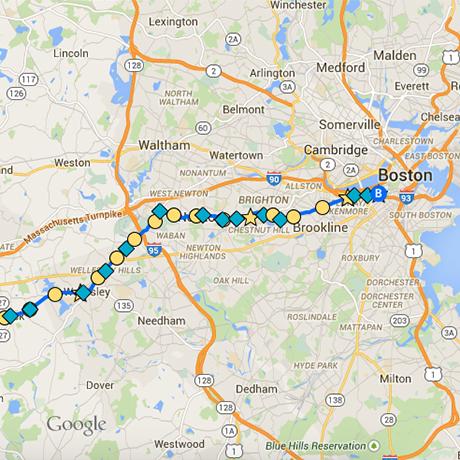 boston marathon google map