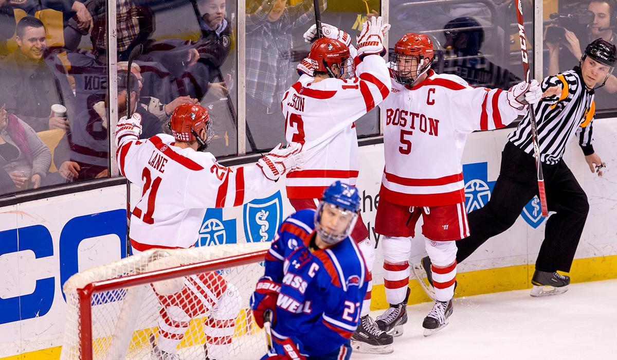 Boston University hockey photo provided