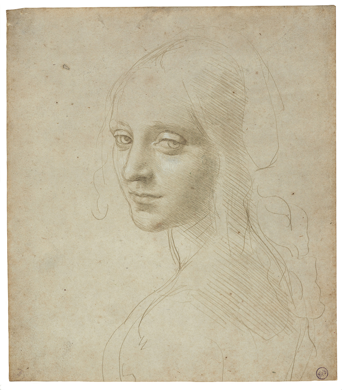 Leonardo da vinci exhibit at mfa features the most for Beautiful sketch paintings