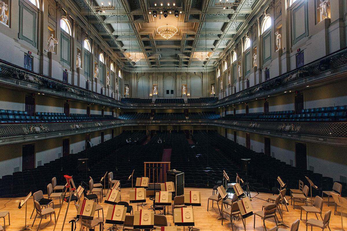 symphony hall interior orchestra