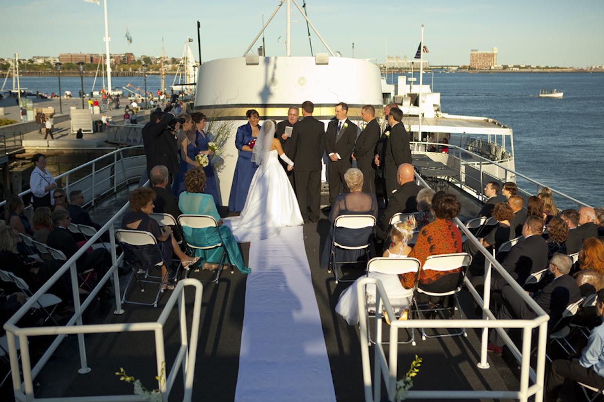 top deck of the Majesty/Photo courtesy of Boston Harbor Cruises