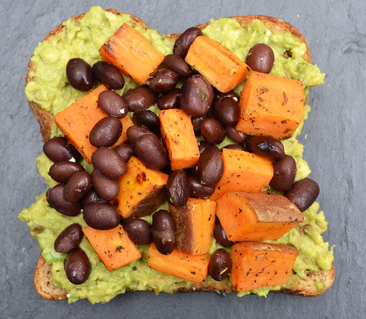 Sweet potato avocado toast photo via Asia Bradlee